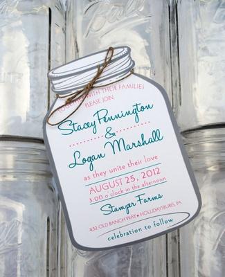 Wedding Invitations With Mason Jars