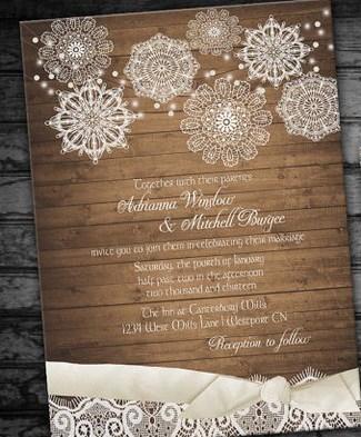 Rustic Wedding Invitation Printable