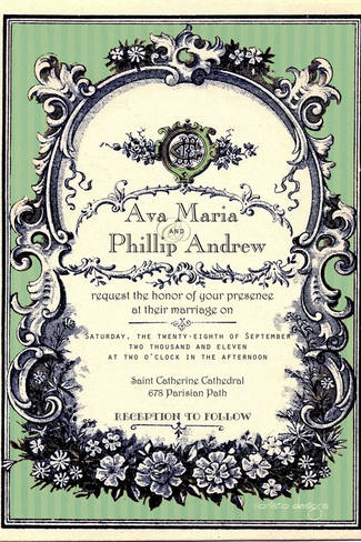 Clic Vintage Wedding Invitations