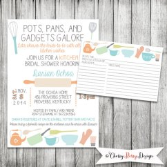 Kitchen Bridal Shower Blue Cabinets 13 Invite Ideas Invitation