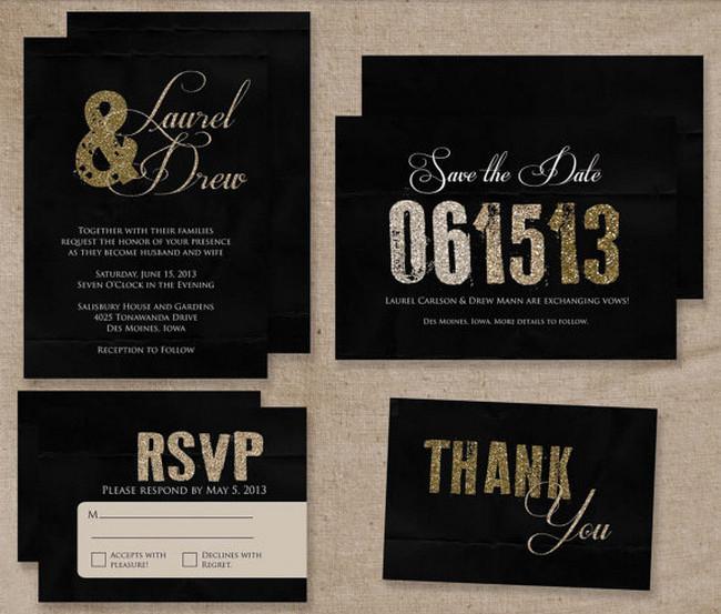 A K Into The Studio Rose Gold Foil And Blind Letterpress Fl Wedding Invitations