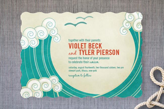Beach Wedding Invitation Wording Poem