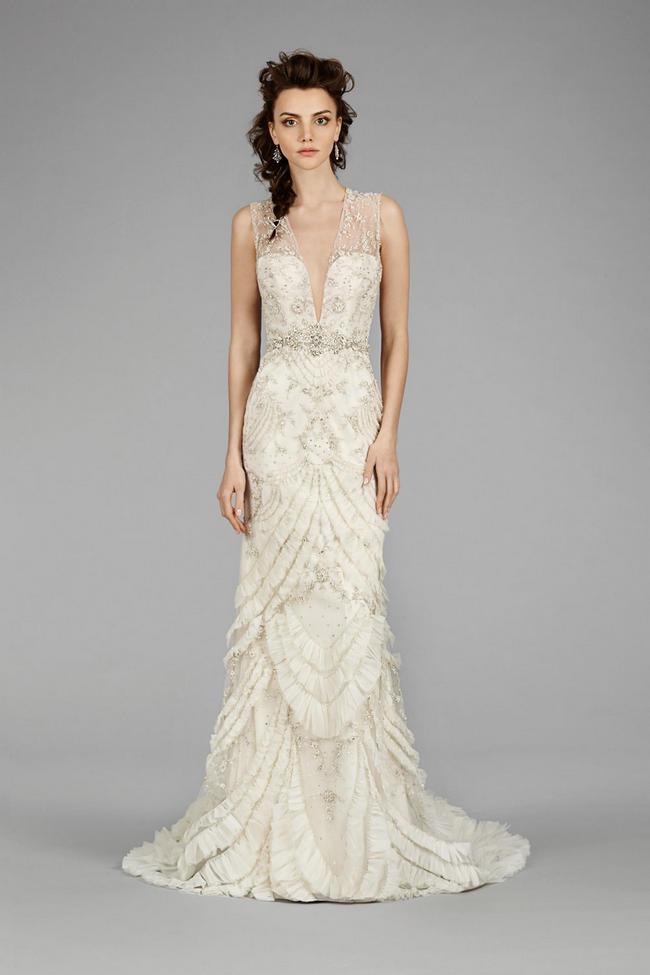 Flirtatiously Feminine: Lazaro Wedding Dress Fall 2014 Collection ...