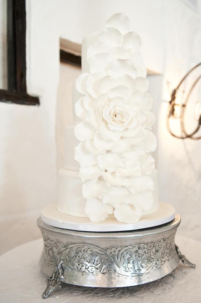 Crisp White Green  Silver South African Wedding