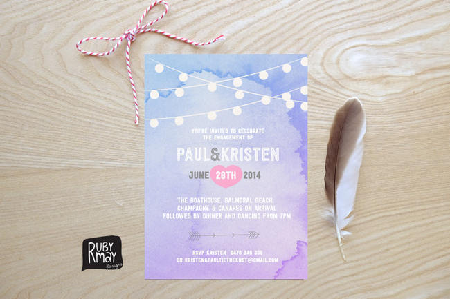 Geous Watercolor Wedding Invitations 8