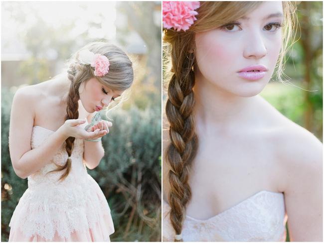 Rapunzel Inspired Long Hair Styles for Spring Weddings // Debbie Lourens Photography // Fringe Hair and Make-up