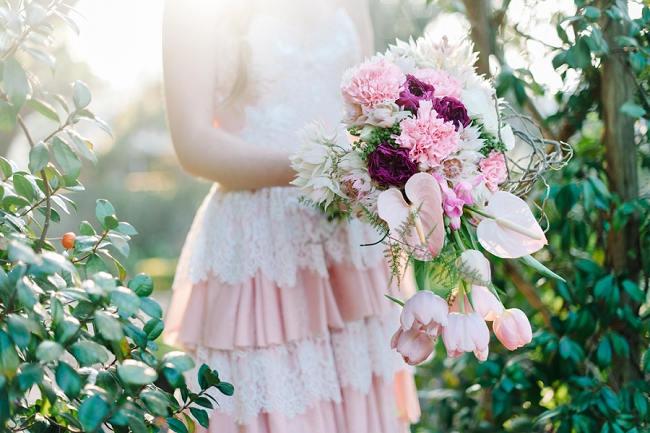 Rapunzel Inspired Long Hair Styles for Spring Weddings // Debbie Lourens Photography // Paramithi flowers