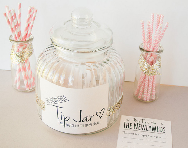 picture regarding Printable Tip Jar Signs known as Do-it-yourself Newlywed Suggestion Jar: A Marriage ceremony Visitor Reserve Possibility