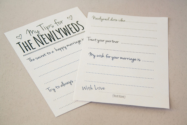 Wedding Advice Cards Template