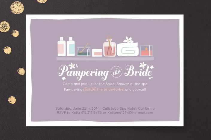 Chalkboard Bridal Ideas Shower