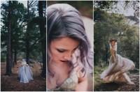 Alternative Bride in Gold + Purple Wedding Dress Rocking ...