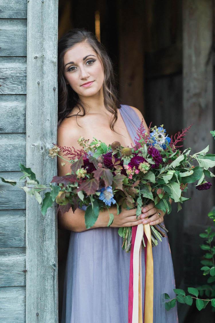 Purple  Gold Rustic Chic Wedding Ideas Catherine Smeader