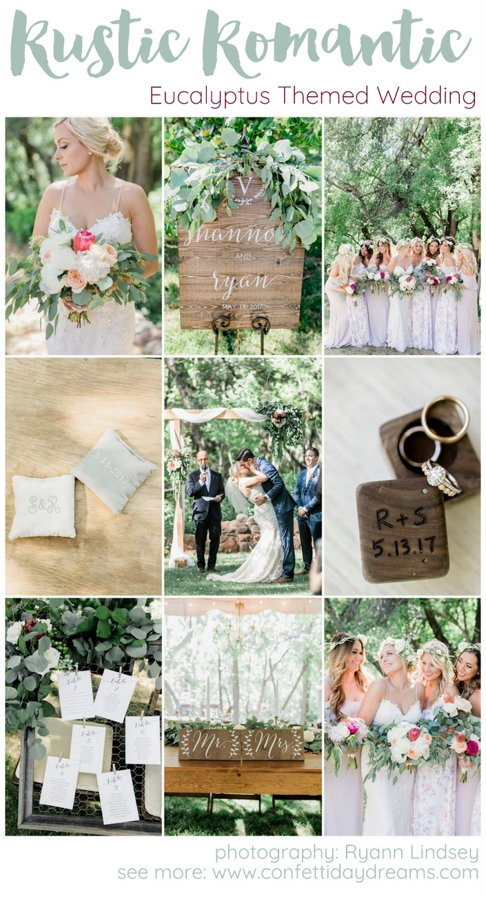 Rustic Romantic Eucalyptus Themed Garden Wedding Ryann Lindsey Photography