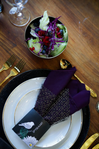 Striking Purple Black Gold Wedding Decor Ideas