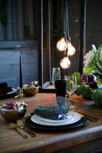 Striking Purple, Black + Gold Wedding Decor Ideas