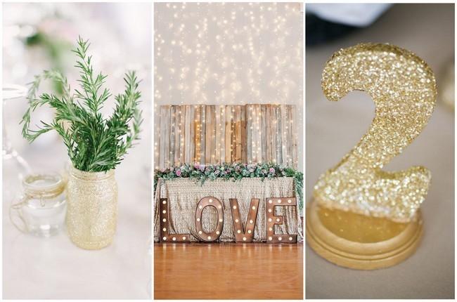 20 DIY Glitter Wedding Theme Ideas Amp Inspiration
