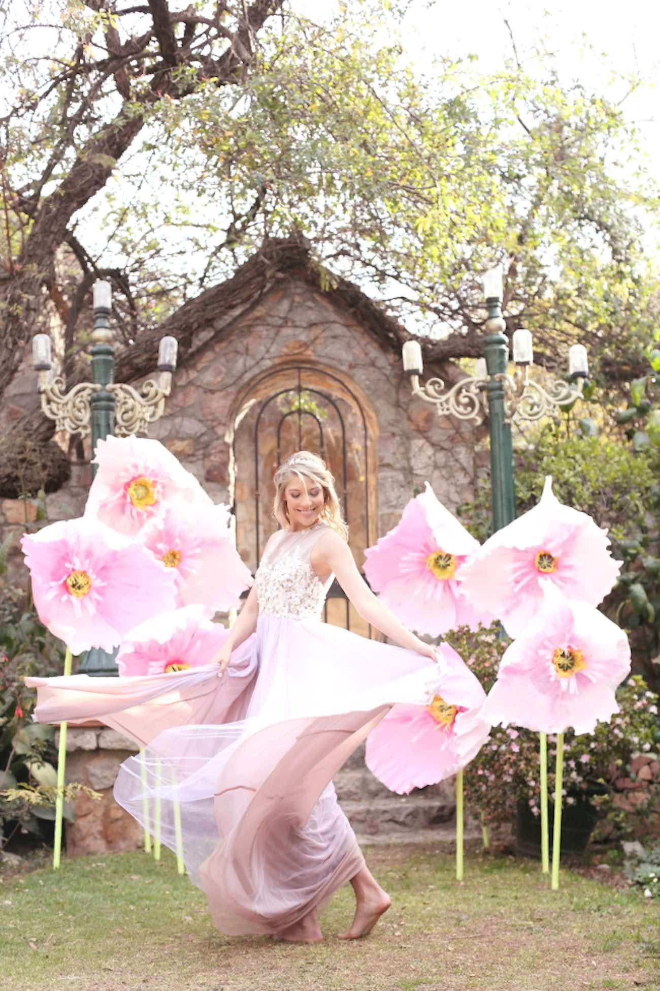 Alice in Wonderland Wedding Giant Paper Flowers Whimsy