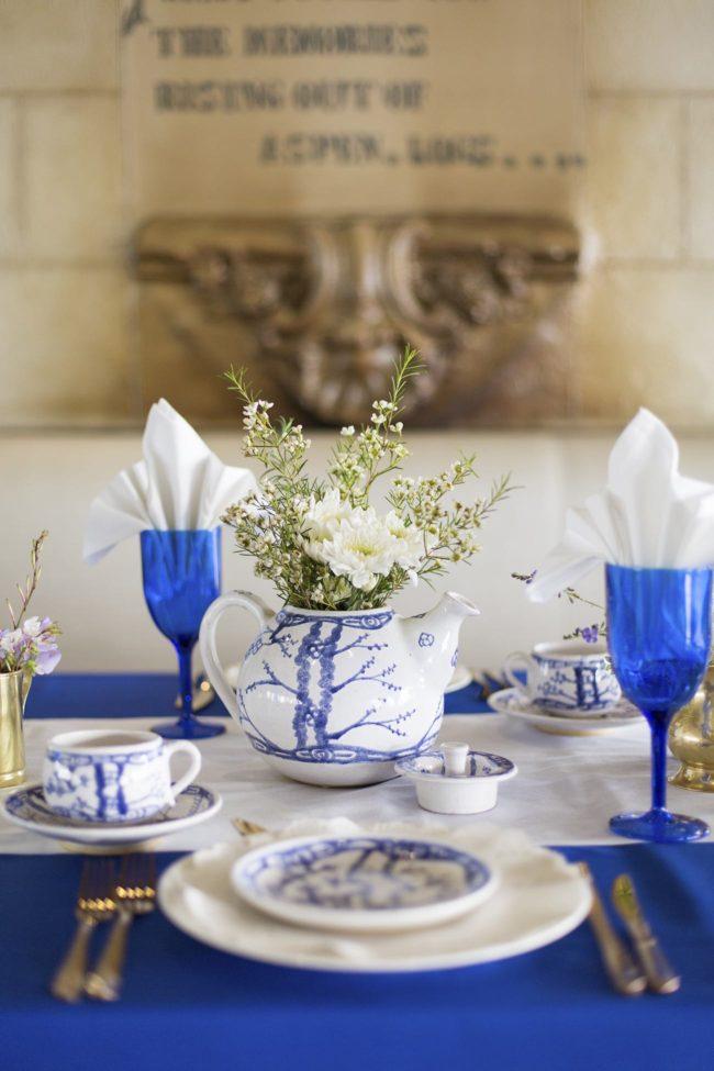 Royal Blue Gold  White GrecianInspired Wedding Ideas