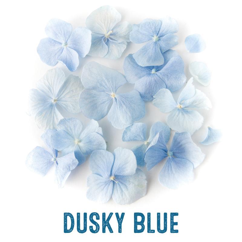 Dusky Blue Hydrangea Petal Confetti