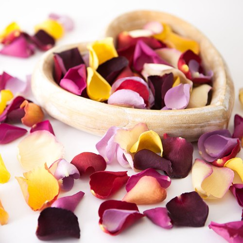 Create Your Own Bespoke Mix - Large Natural Rose Petal Confetti