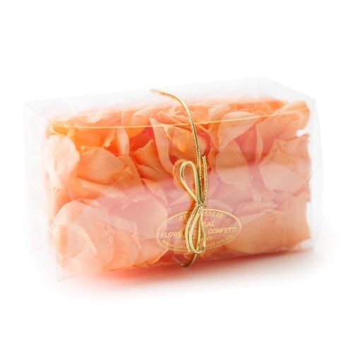 coloured rose petal confetti 10 handful box