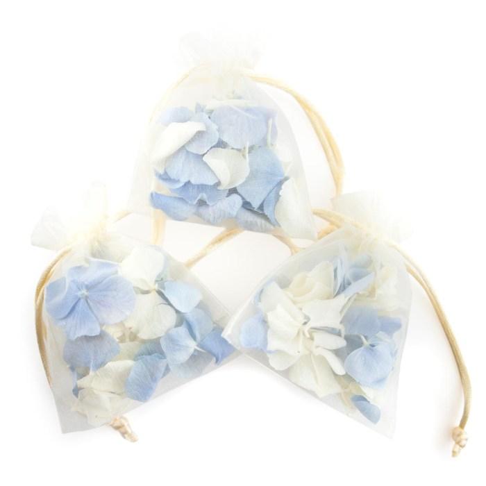 hydrangea petals confetti petal bags