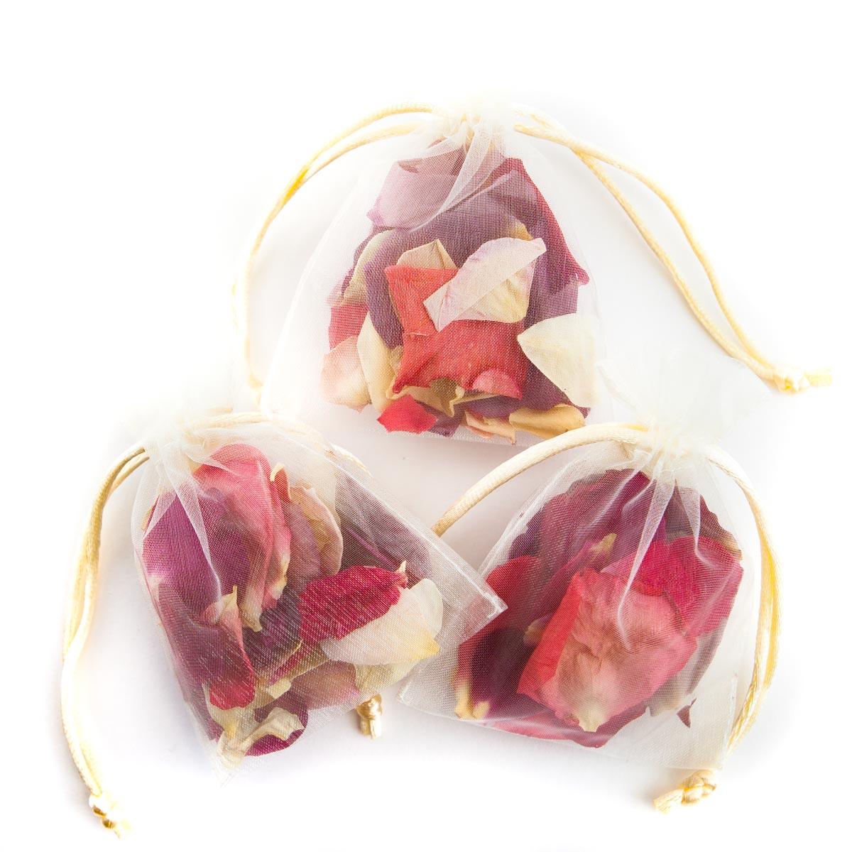 Rainbow Small Natural Rose Petals - Confetti Petal Bag