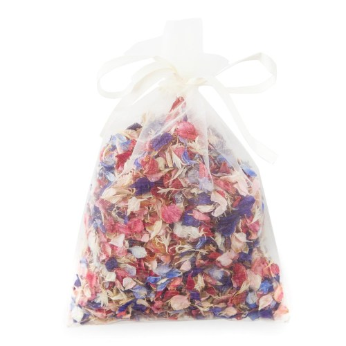 Rainbow Delphinium Petals pint bag of confetti