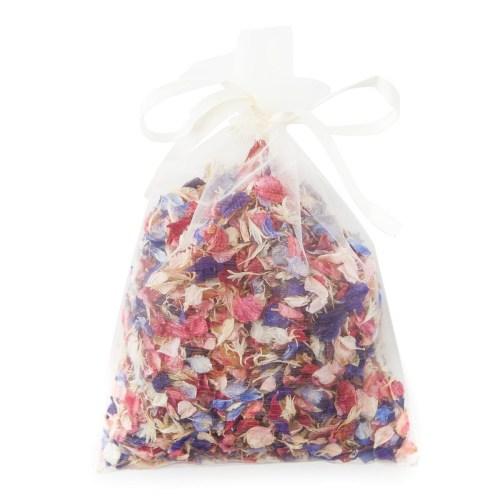 Rainbow Delphinium Petals pint bag of confetti
