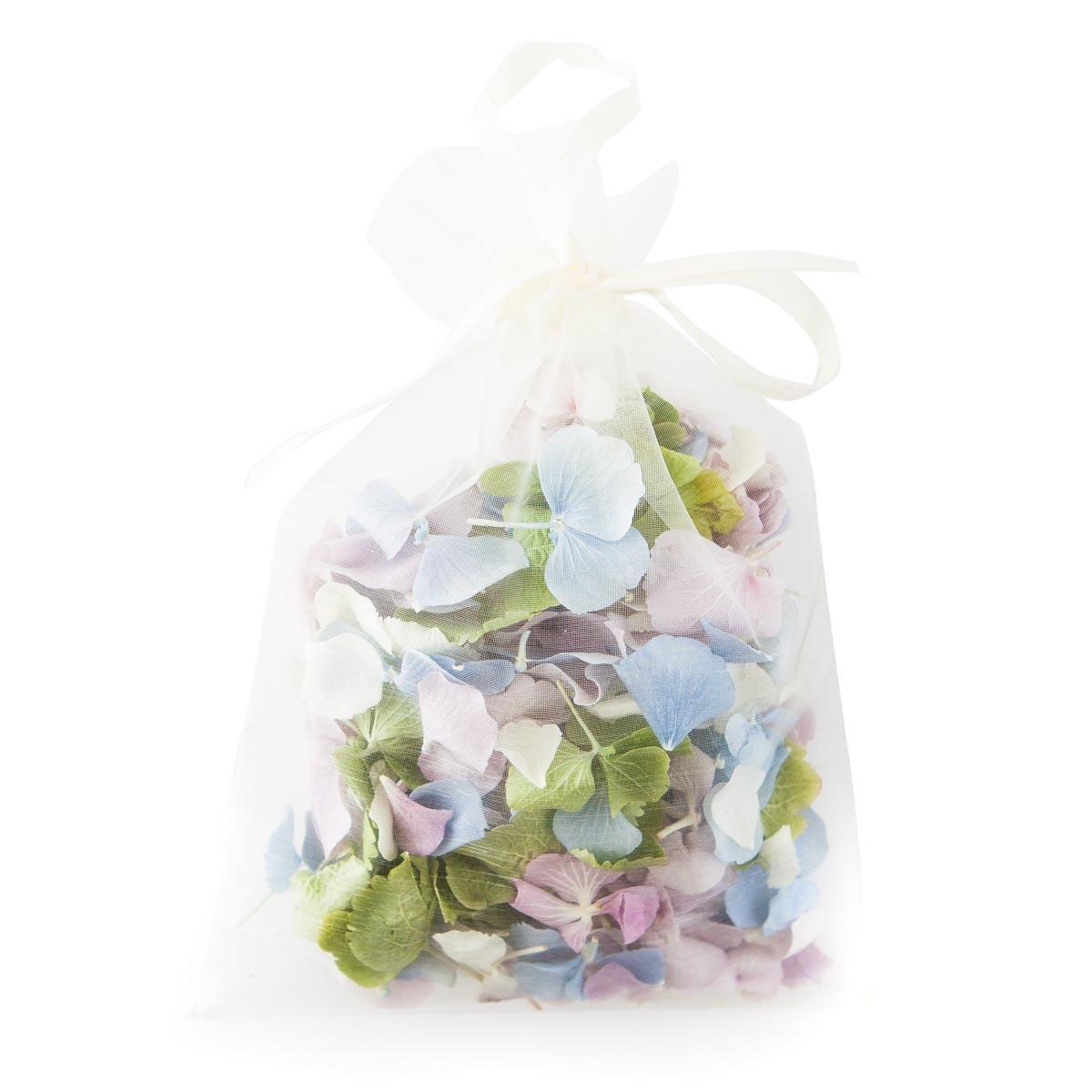 hydrangea petals bespoke confetti