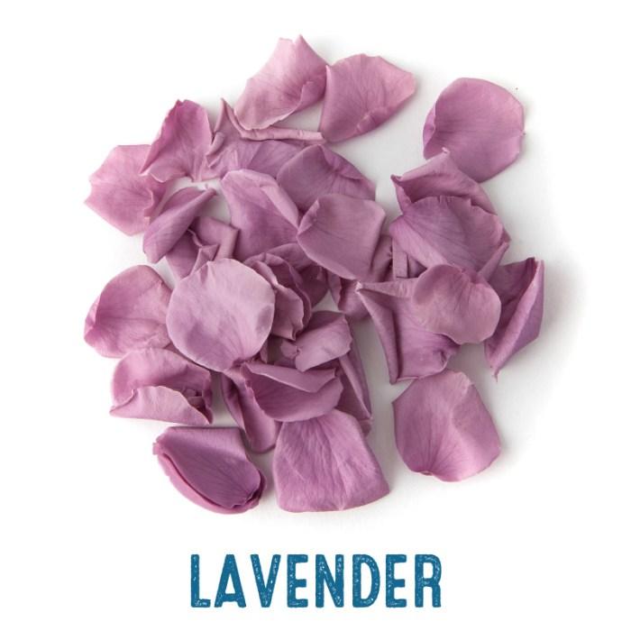 Lavender coloured Rose Petal Confetti
