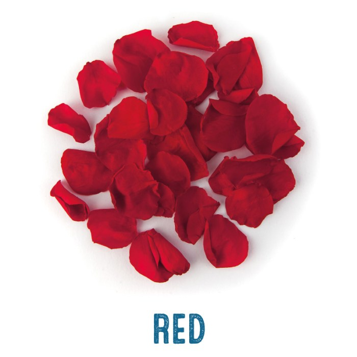 Red coloured Rose Petal Confetti