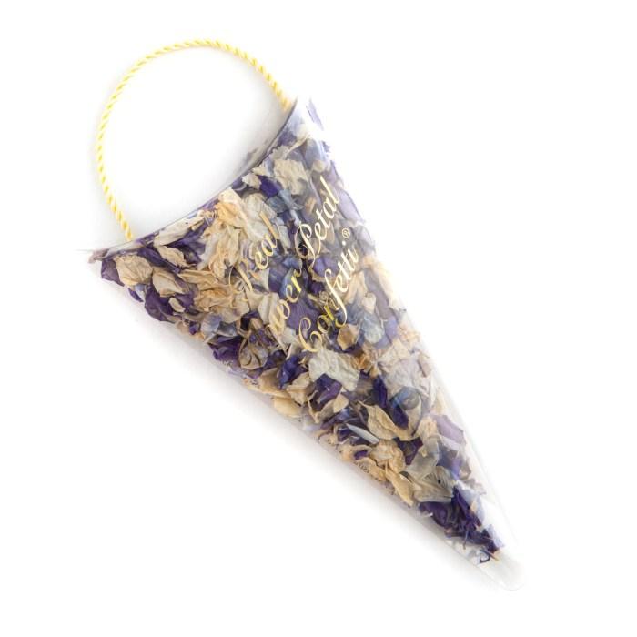Biodegradable Confetti - Violet Mix Delphiniums - Petal Sachet