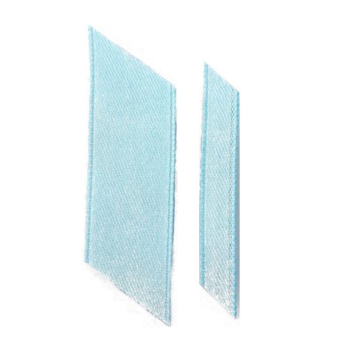 light blue ribbons wedding ribbon real flower petal confetti company