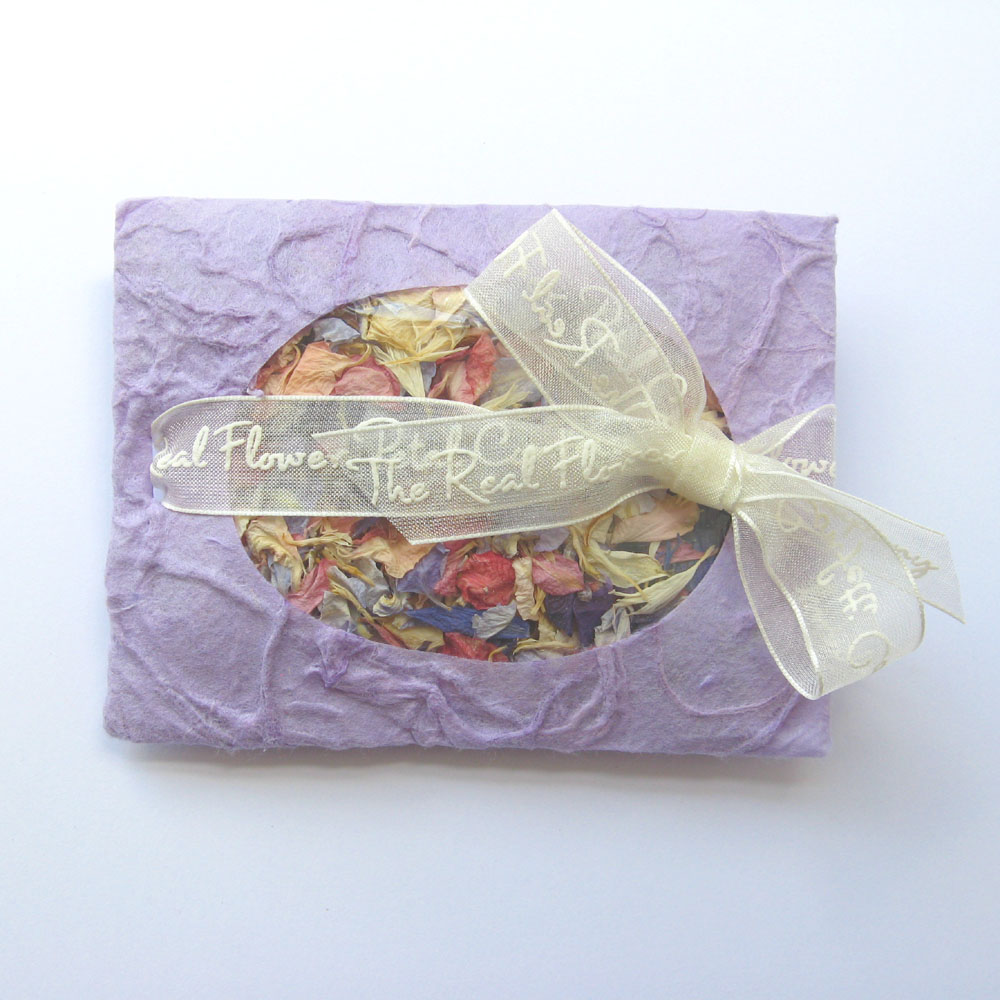 lilac petal envelopes