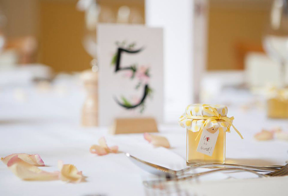 Rose Petals - decorated wedding table