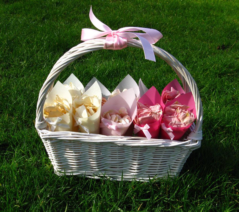 Rose Petals - Ombre Confetti Basket