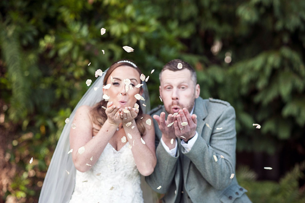 Rose Petals - Bride & Groom wedding confetti
