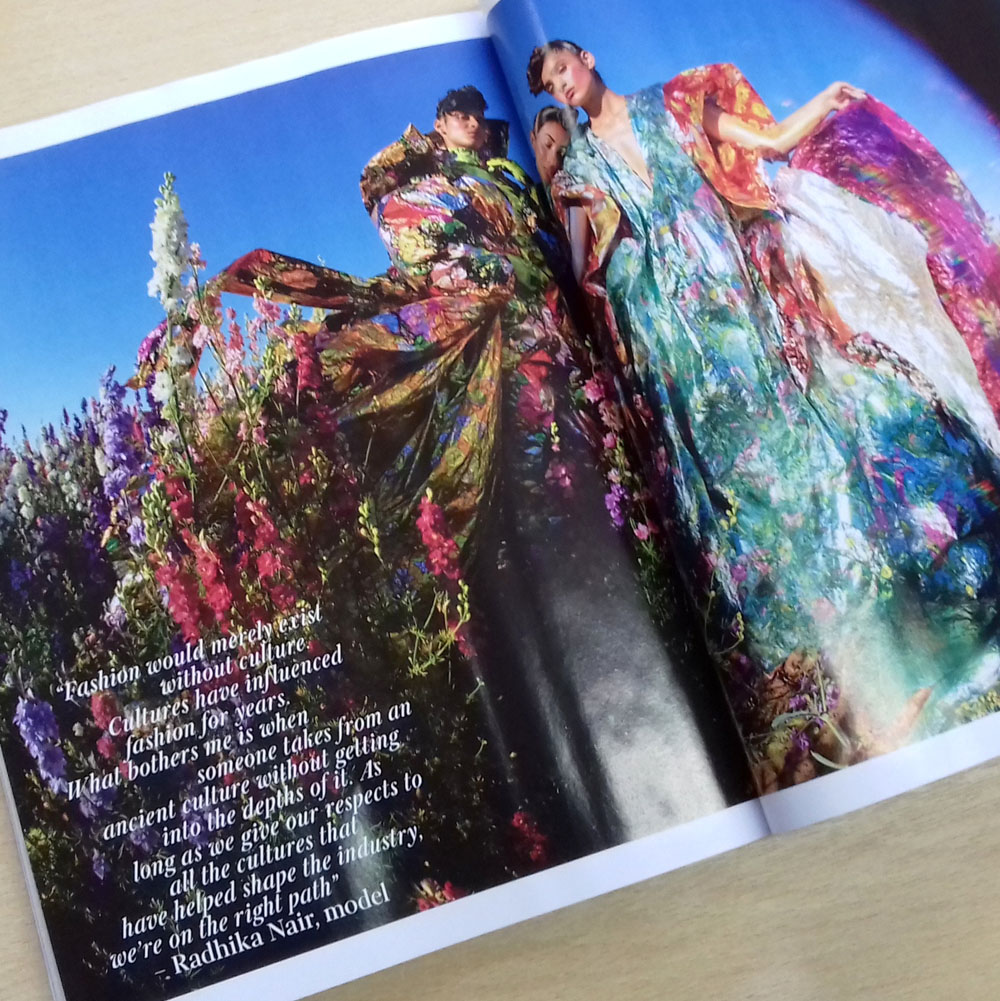 The Confetti Flower Field in Vogue - Tim Walker Fashion Shoot