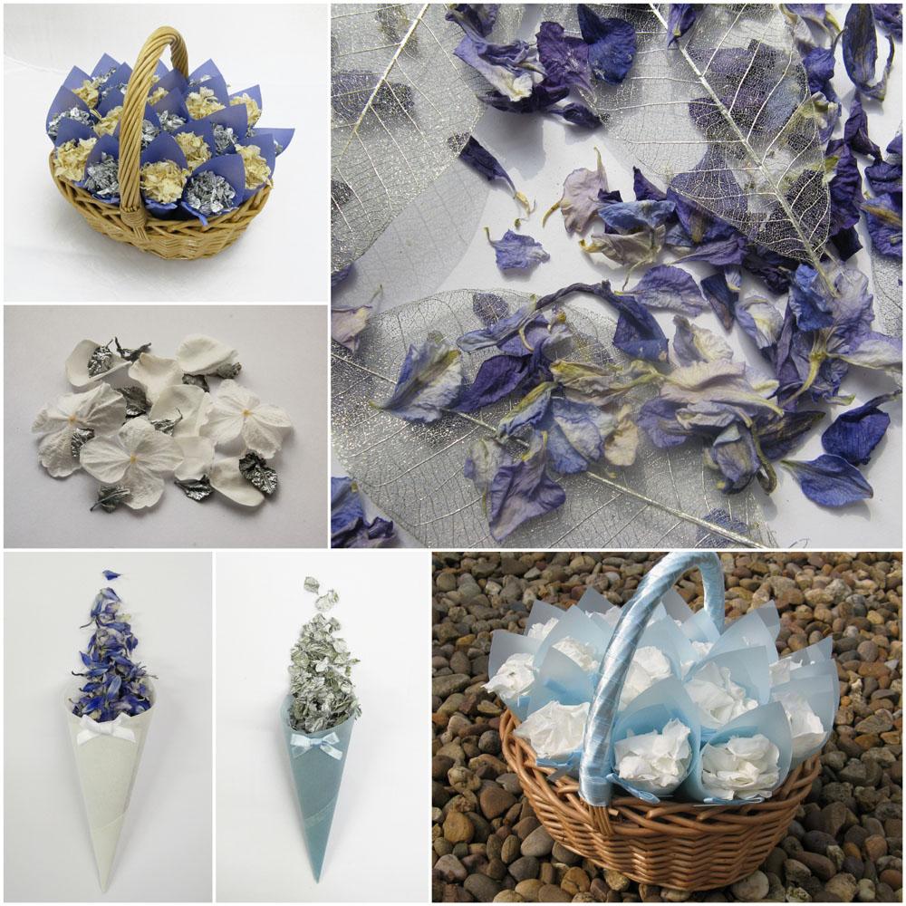 Christmas Wedding Confetti - sparkle and silver. Cool coloured confetti.