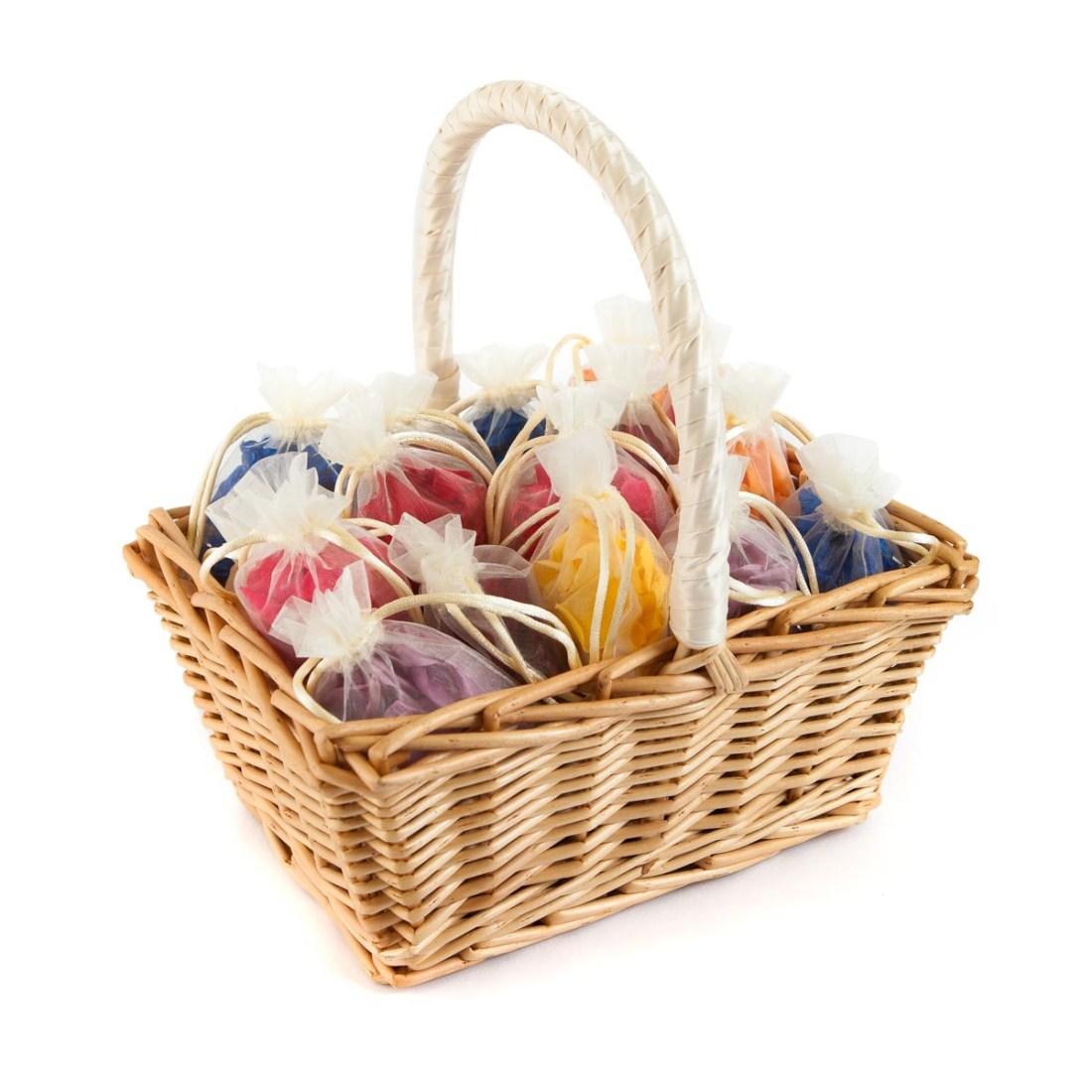 Flower Girl Baskets - colourful petal bags