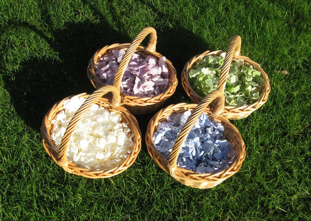 Petal Confetti - Hydrangea Petal Baskets
