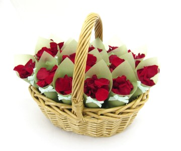 Red Rose Petals - Christmas Confetti Basket