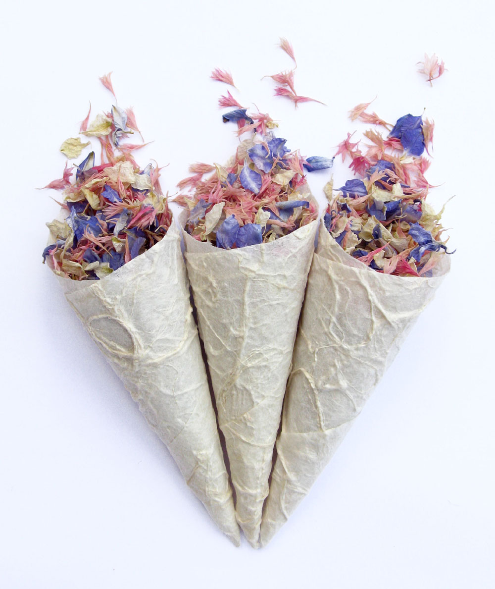 Petal Confetti - Delphiniums, Wildflowers and Lavender - Ivory, Azure Blue and Tudor Pink