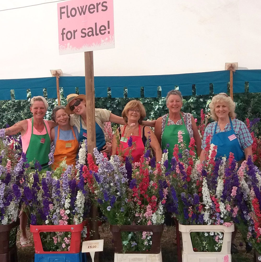 Flower cutting staff, 2018, The Confetti Flower Field, The Real Flower Petal Confetti Company, Worcestershire