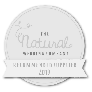 natural wedding company badge