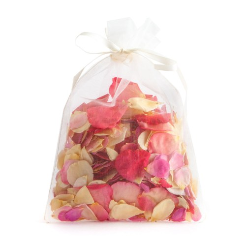 Bright Pink Mix Small Natural Rose Petals - 10 Handful Bag