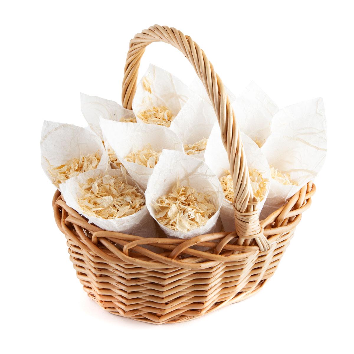 Vanilla Twist - Confetti Cone Basket