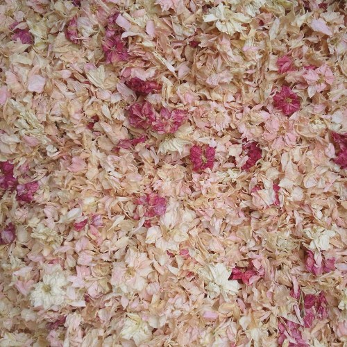 Pink Flower Field Confetti Mix - natural biodegradable confetti from The Confetti Flower Field on the Wyke Manor Estate