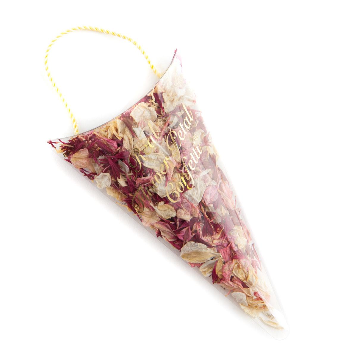 Ruby Twist confetti petals - Biodegradable Confetti - Real Flower Petal Confetti - Sachet